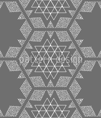 Sterne und Dreiecke Musterdesign