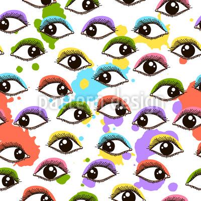 Verrückter Augenaufschlag Designmuster