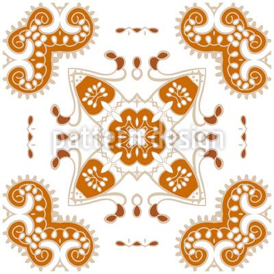 Verzierte Ornamente Rapportmuster