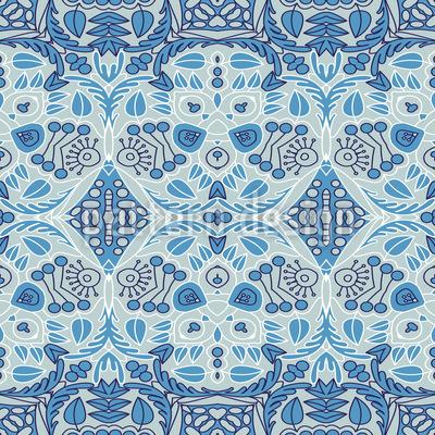 Verziert in Streifen Muster Design