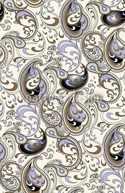 Paisley Ozean Muster Design