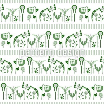 Blumenfeld Bordüre Vektor Muster