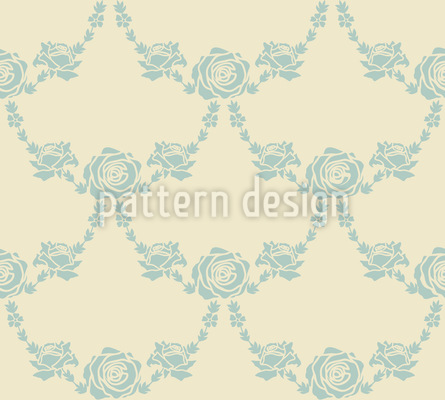 English Roses Sand Seamless Vector Pattern Design