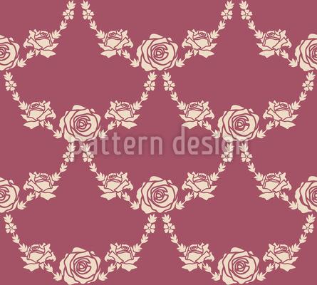 Englische Rosen Natur Nahtloses Vektor Muster