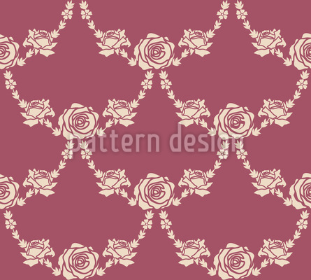 English Roses Nature Seamless Vector Pattern Design