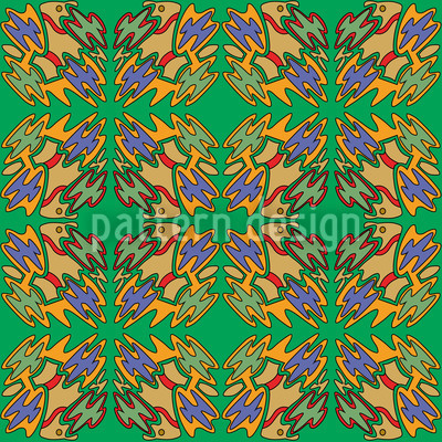 Ethno Birds Repeating Pattern