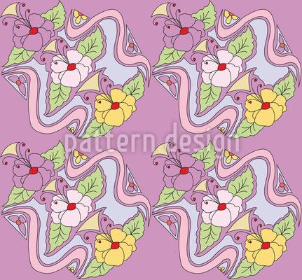 Tiffany Bouquet Lilás Design de padrão vetorial sem costura