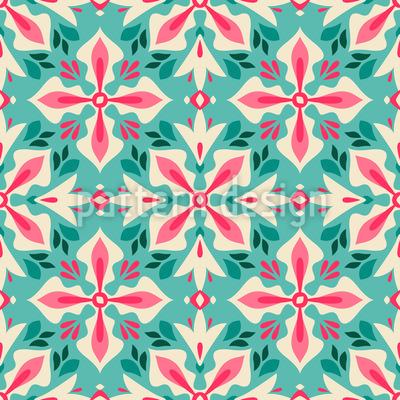 Florales Kreuz Musterdesign