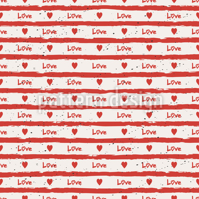 Heart stripe Repeating Pattern