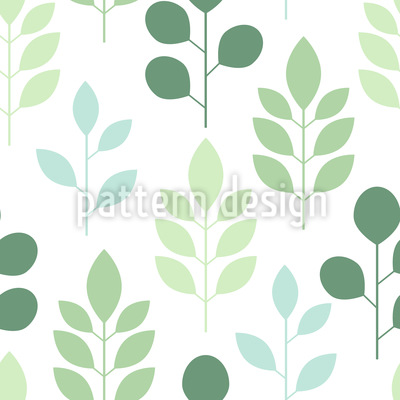 Abstract trees and leaves Pattern Design