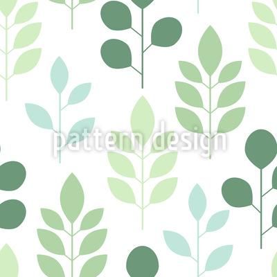 Árvores e folhas Design de padrão vetorial sem costura
