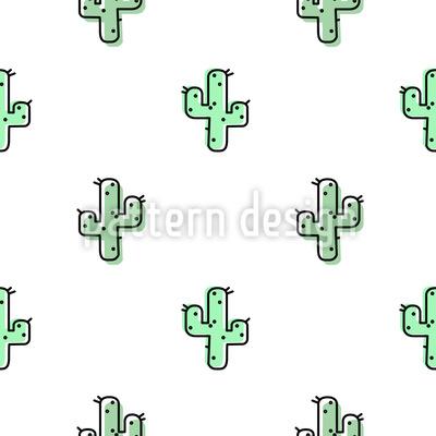 Kleine Kaktusse Rapportiertes Design