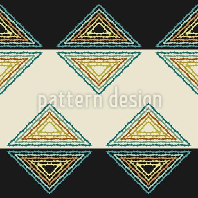 Dreiecke und Steifen Nahtloses Muster