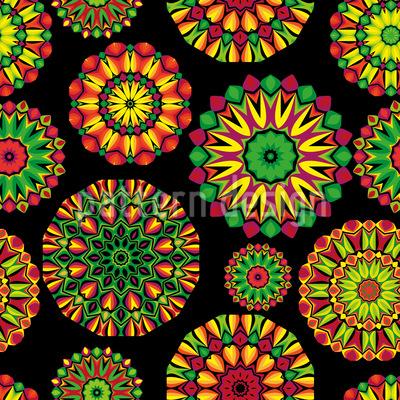 Colorful Mandala Seamless Vector Pattern Design