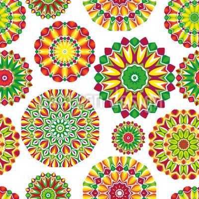 Florale Kraft Nahtloses Muster