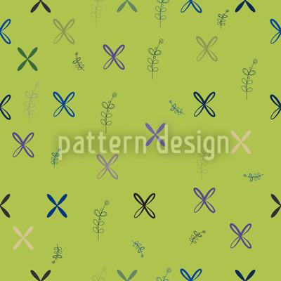Resis Wandmalerei Grün Nahtloses Vektormuster