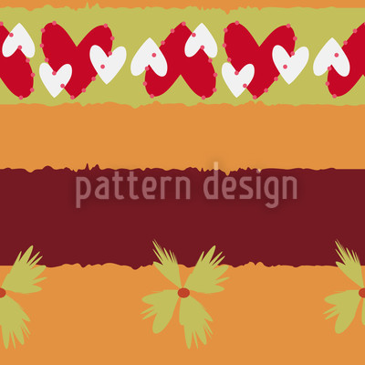 Streifen Verliebt Muster Design