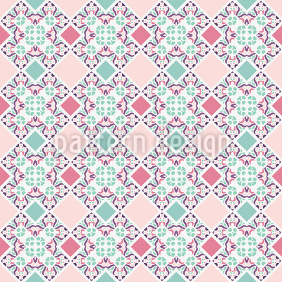 On a patchwork blanket Seamless Pattern