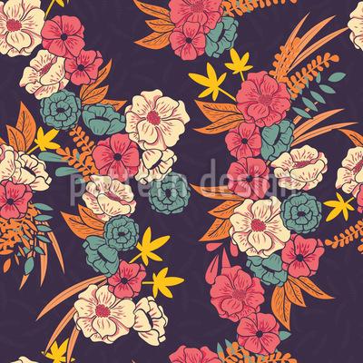 Tropisches Blumenbouquet Rapport
