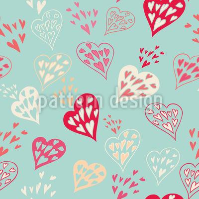 Herzen im Herzen Rapportiertes Design
