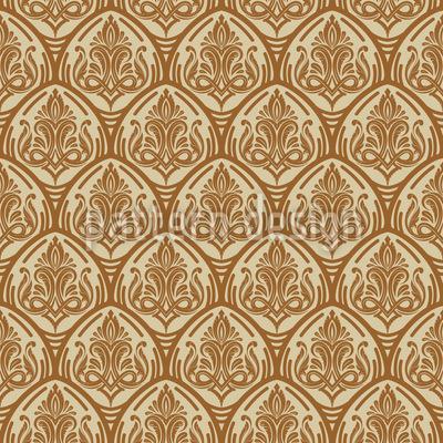 Ascensão Renascentista Design de padrão vetorial sem costura