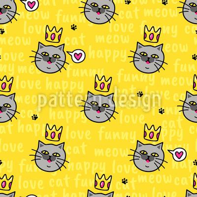 Gekrönte Katzen Musterdesign