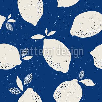 Frische Zitrone Musterdesign