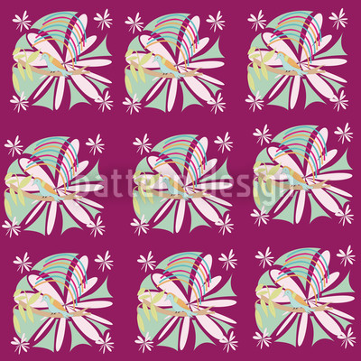 Bird Paradise Repeat Pattern