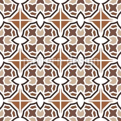Azulejo de rayas marroquíes Estampado Vectorial Sin Costura