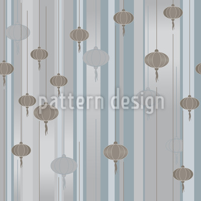 Foggy Lantern Seamless Vector Pattern Design