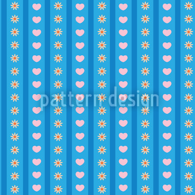 Flowers And Love Seamless Vector Pattern Design