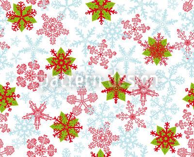 Weihnachtskristalle Eisblau Nahtloses Vektor Muster