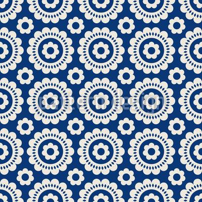 Symmetrical blossom Seamless Pattern