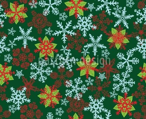 Weihnachtskristalle Grün Nahtloses Vektormuster