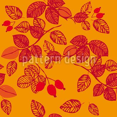 Hagebutten im HerbstHerbstfrüchte Designmuster