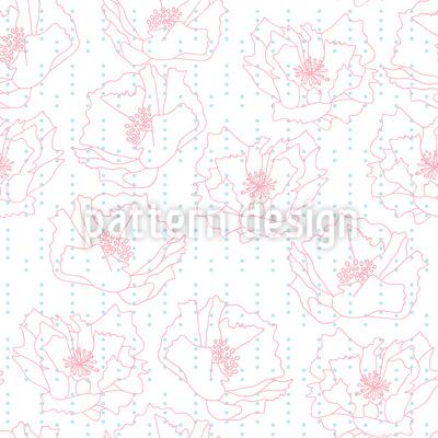 Mohnblumen Und Punkte Musterdesign