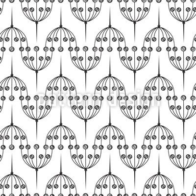 Stilisierte Doldenpflanzen Designmuster