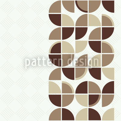 Retropolis Brown Seamless Vector Pattern