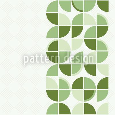 Retropolis Grün Nahtloses Vektormuster