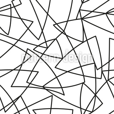 Dreiecks Außenlinien Nahtloses Muster