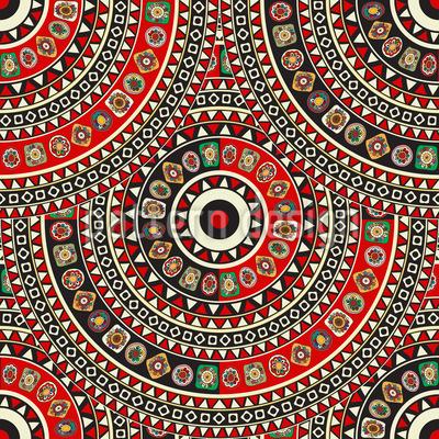 Endloses Mandala Nahtloses Vektormuster