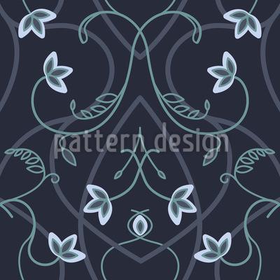 Gotische Blumenfantasie Nahtloses Vektormuster