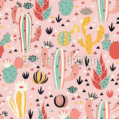 Schöne Kaktuswüste Vektor Muster