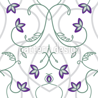 Blumen Am Gotischen Tor Vektor Ornament