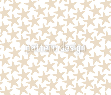 Simple Starfish Vector Ornament