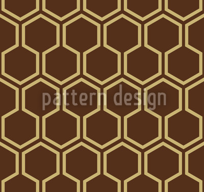 Caramel Honey Vector Pattern