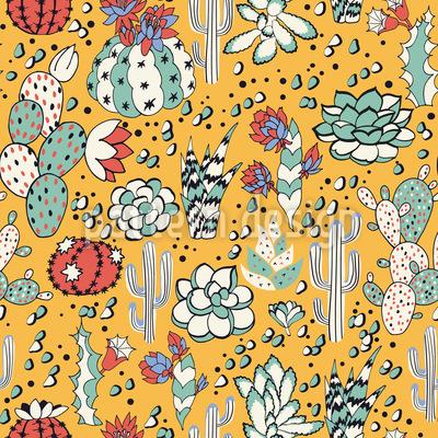 Schöne Sukkulenten Muster Design
