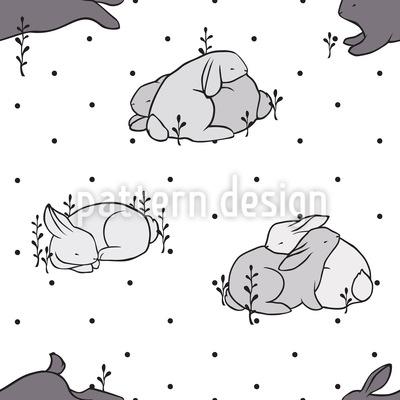 Liebe Kleine Kaninchen Vektor Muster