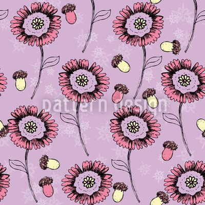 Boheme Fantasieblumen Lavendel Rapport