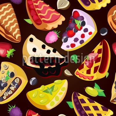 Obstkuchen Nahtloses Muster